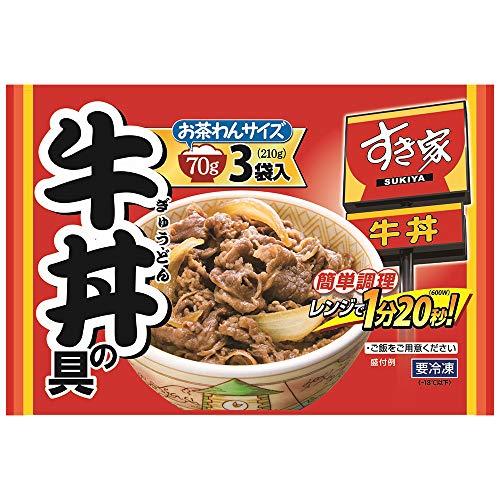 [冷凍]すき家 牛丼の具 (70g×3食)×5袋