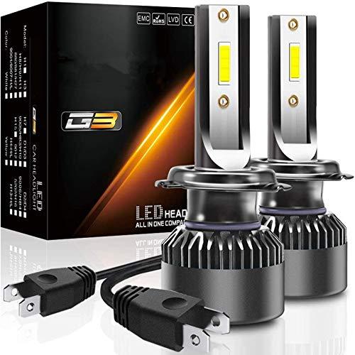 Iriisy 2Pcs Bombillas LED H7 10000LM 100W H7 Kit de Faros LED para Coche 6000K Lámparas Blancas 50W set Reemplazo de Faros Delanteros de Auto