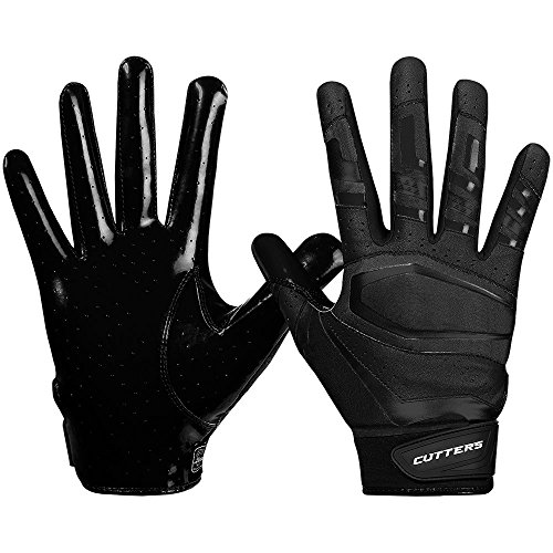 Cutters American Football Gloves S452 Rev Pro 3.0 Solid Receiver Handschuhe Design 2018 - schwarz Gr. 2XL