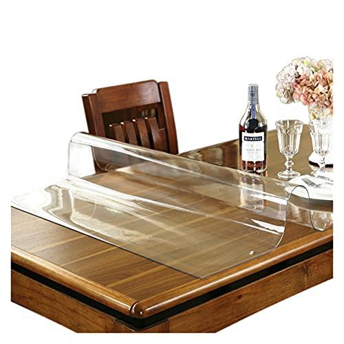 HCHL Decoración de Mantel de Cubierta de Mesa Table Table Table Tapa Tapa Tapa Tapa Tapa DE PROTECCIÓN A Prueba de Agua Mesa de Cocina Tela Suave de Vidrio 1.0 mm (Size : 50x120cm)