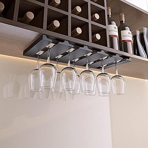 Soporte de Copa de Vino,Estante de Copas de Vino Debajo del Gabinete,Acero Inoxidable Sostenedor del Vidrio de Vino,Colgante Sostenedor del Vidrio de Vino,para Cocina,Bar,Pub,Vidrio,Almacenamiento