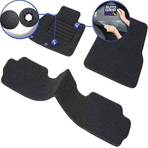 Velours Finish 3 Pieces Custom Made Steering Wheel Left Carpet 1000g//m/² Anti-Slip Range Luxe DBS 1766202 Car Floor mat