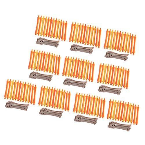 SDENSHI 1.6x9 Cm Beaucoup De 120 Pièces Perm Rods Hair Styling Roller & Bigoudis Outils De Bricolage