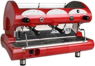 la Pavoni BAR-STAR 2V-R - 2-Group Commercial Espresso Cappuccino machine. Red
