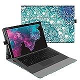 Fintie Hülle für Microsoft Surface Pro 7/ Pro 6/ Pro 5/ Pro 4/ Pro 3 12,3 Zoll Tablet - Multi-Sichtwinkel Hochwertige Tasche Schutzhülle aus Kunstleder, Type Cover kompatibel, Emerald