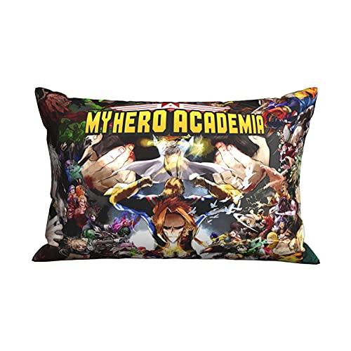 My Hero Academia Funda de cojín Accesorios de dibujos animados Funda de almohada Oficina en casa Sofá Funda de almohada 20 x 30 Inches