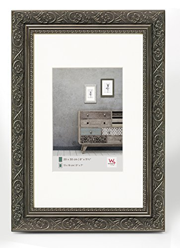 walther design CR318D Holzrahmen Barock, 13 x 18 cm anthrazit