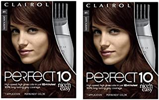 Clairol Nice'n Easy Perfect 10 Permanent Hair Color, 4R Dark Auburn, Pack of 2
