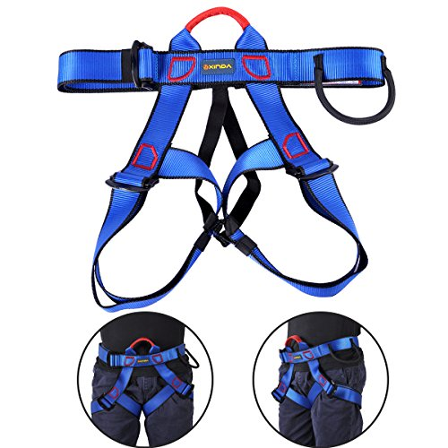UCEC Climbing Harness Safe Seat Belt, for Fire Rescue, High Altitude Rock Climbing, Rappelling Equipment, Half Body Guard Protect, Pack of 1(Blue)