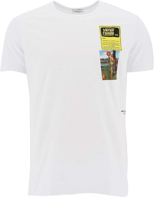 PAOLO PECORA Men's F24163201101 White Cotton TShirt