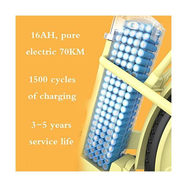 51nS8L6TjqL. SS600  - WSCQ Damen City-E-Bike, Pedelec Citybike leicht 24 Zoll Vollreifen 250W und 16Ah, 36V Lithium-Ionen-Akku mit Fahrradkorb