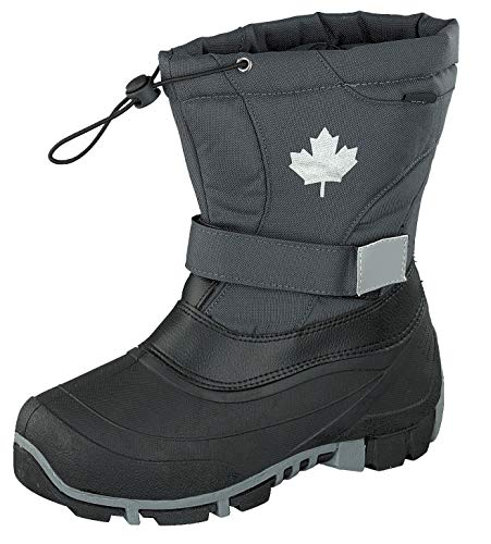 Indigo Canadians Winter Stiefel Boots 467-185 gefüttert in Dunkelgrau (38)