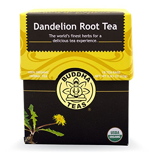 Buddha Teas Dandelion Root Tea, 18 Count (Pack of 6)