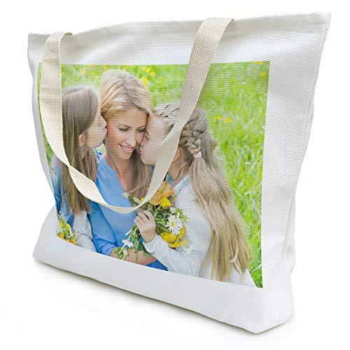 Bolso de Tela Personalizado con Foto/diseño/Texto. Regalo Original y esclusivo. Tote Bag. Personalizado por Dos Caras. Bolsa Nature