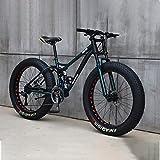 Bicicleta 26 Pulgadas MTB Arriba Rueda Grasa Moto Playa Nieve Grande Grasa Bicicletas 21 Velocidades Grasas para Adultos NeumáTico Grasa Bicicleta MontañA Crucero Bicicleta Grasa,E,26IN