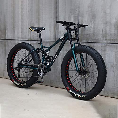 Bicicleta 26 Pulgadas MTB Arriba Rueda Grasa Moto Playa Nieve Grande Grasa Bicicletas 21 Velocidades Grasas para Adultos NeumáTico Grasa Bicicleta MontañA Crucero Bicicleta Grasa,E,24IN