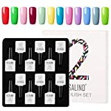 ROSALIND Kit de esmalte de uñas en gel Kit Soak Off Barniz Laca de gel semi permanente 12pcs 10ml Ecah