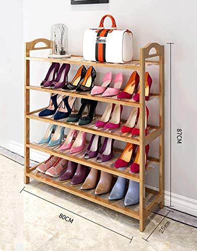 CXVBVNGHDF Zapatero de bambú Nan de Madera, Estante Simple para Almacenamiento en la Puerta del hogar, Estante para Zapatos de Varios Pisos, Zapato para Polvo de Sala de Estar Moderno y Simple