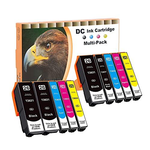 D&C 10er Set Cartucce d'inchiostro non originali per Epson Expression Premium XP-510, XP-520, XP-600, XP-605, XP-610, XP-615, XP-620, XP-625, XP-700, XP-710, XP-720, XP-800, XP-810, XP-820