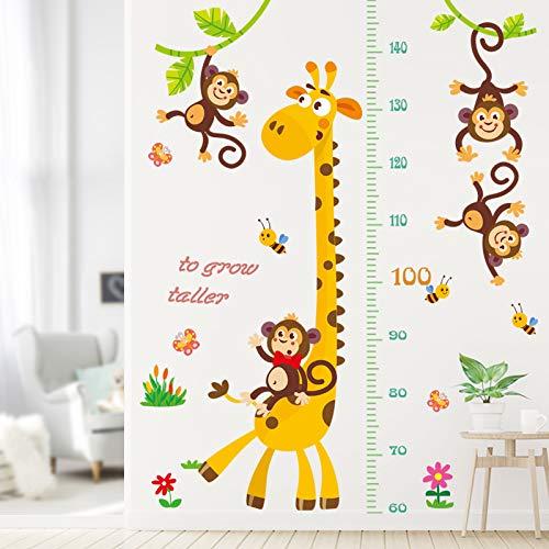 YOUKU Pasta de Pared extraíble para habitación de niños, Regla de Altura de Volumen de bebé de Dibujos Animados, Pegatina de decoración de Pared, Pegatina de Altura de Animal
