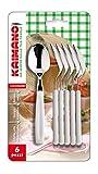 kaimano kdn760306w cucchiaini da tè, acciaio inossidabile, bianco, 6 unità