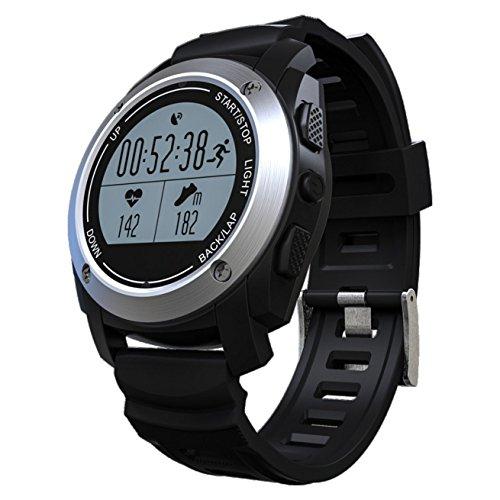 MidtenAshion Bluetooth Smartwatch Herzfrequenz Smart Watch Fitness Tracker Armband Mit Pulsmesser Android Schrittz? Hler Armband (Englisch Deutsch) Gps-Funktion Bewegun Eilenzahl Laje928