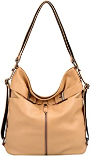 Mellow World Heather Convertible Hobo/Backpack 15x5x11, Khaki