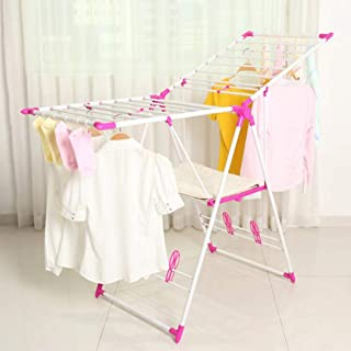 Drying Rack Laundry Clothes Hanger-Tidy Living (Pink)
