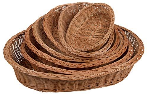 Kerbl 84115 Weidenkorb, Zopfrand 120 cm