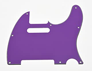 KAISH 8 Hole Tele Guitar Pickguard Scratch Plate fits USA/Mexican Fender Telecaster Purple 3 Ply