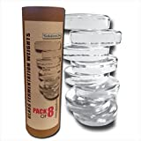 (8-Pack) Premium Glass Fermentation Weights for Large Wide Mouth Mason Jars (2 3/4 Inch)