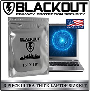 BLACKOUT Faraday Cage EMP Bags Premium Ultra Thick 3pc Prepping Kit Extra Large 15