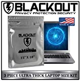 BLACKOUT Faraday Cage EMP Bags Premium Ultra Thick 3pc Prepping Kit Extra Large 15' X 18' Laptops Tablets Smartphones Hard Drives iPhone iPad Galaxy Android LG Microsoft