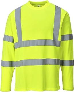 Portwest S278–T-shirt haute visibilité à manches longues, Large, citronier
