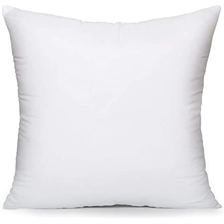 Acanva Throw Pillow Inserts Hypoallergenic Couch Stuffer Euro Sham Fillers 20 X 20 White Pi N20 Home Kitchen