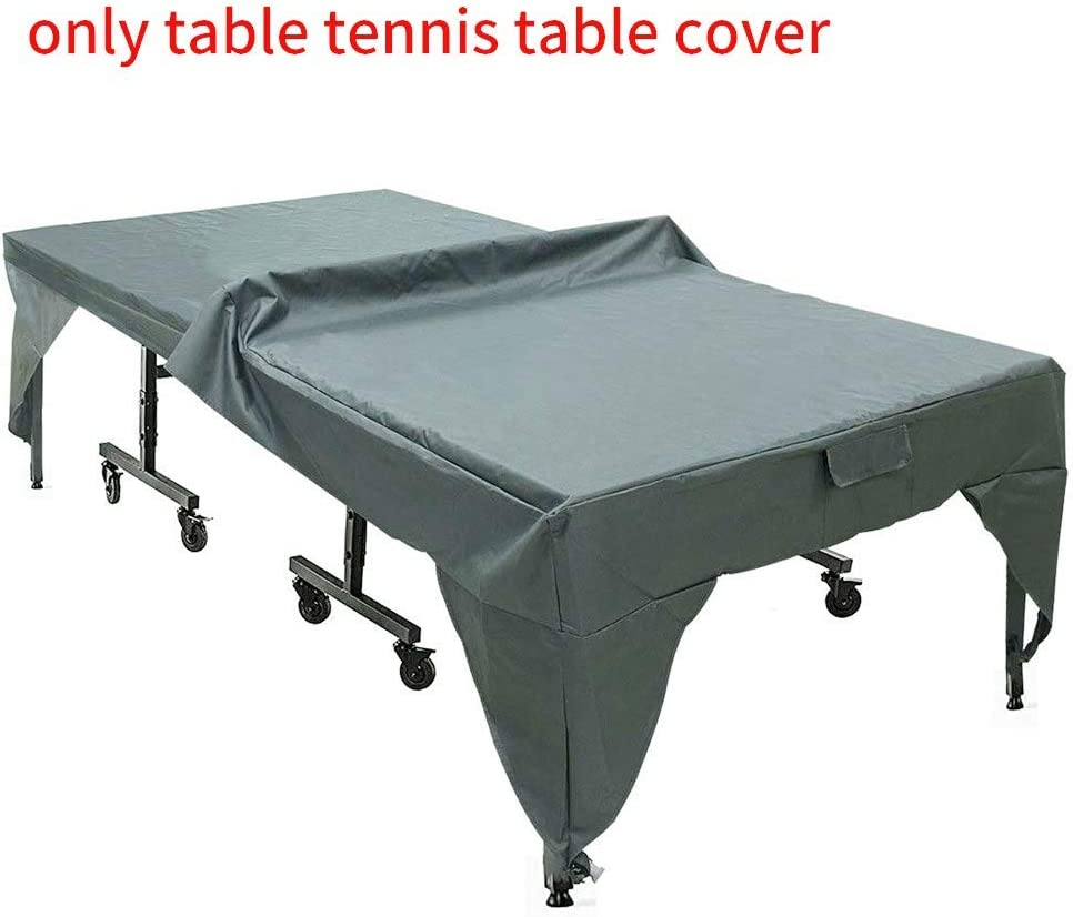 Outdoor Table Tennis Cover Waterproof Polyester Pingpong Table Cover,Desk Dustproof Sunproof Protective Cloth Table Tennis Cover ZQEDY Pingpong Table Cover