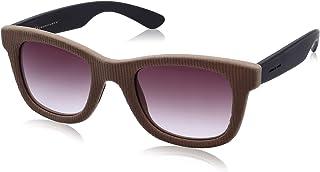 نظارة شمس بعدسات شبه مربعة بني وشنبر قطيفة مضلع للنساء من ايطاليا انديبندنت - بني
