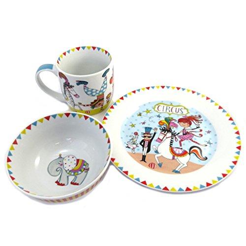 Les Trésors De Lily [P4190 - Coffret Petit déjeuner Porcelaine 'Circus' Blanc Multicolore