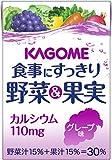 カゴメ 食事にすっきり 野菜&果実カルシウム グレープ味 100ml×36本