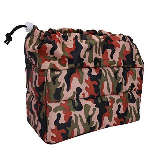 Sac de protection antichoc pour appareil photo, tissu de toile imperméable externe, éponge épaississante, tissu de velours de vape interne, sac à dos multifonction étanche pour appareils(jungle)