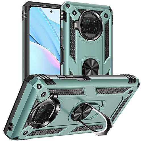 DAWEIXEAU Custodia Xiaomi Mi 10T Lite 5G,Silicone Cover Armatura Antiurto Copertura Cassa Custodia per Xiaomi Mi 10T Lite 5G (Verde Grigio)