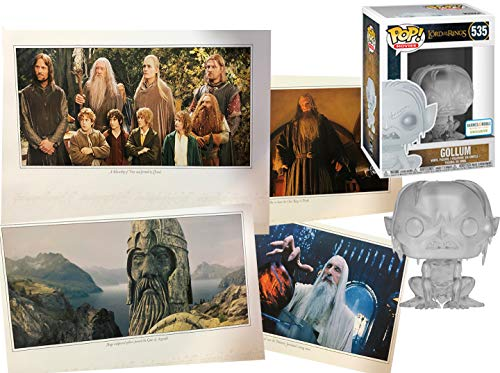 Stoor Hobbit Gollum Figure Exclusive Clear Vinyl Pop! & Lord of The Rings Bundle with Scene Images Bundle LOTR 2 Items image