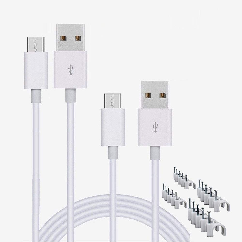 Long Beach Year-end gift Mall CYYLTD 2 Pack 10ft Micro USB for Home Security Camera,Wy Cable