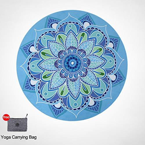 FitTrek Colchoneta de Meditación Yoga - Ronda Alfombra Yoga Meditation Mat Caucho Natural y Ante -