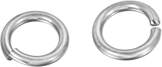 VALYRIA 50pcs Silver Stainless Steel Metal Split Open Jump Rings Craft Connectors Jewelry Making Findings,10mmx1.5mm
