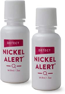 Nickel Alert - No Nickel - 2 Pack of Nickel Testing Solution for Jewelery, Watches, Belts