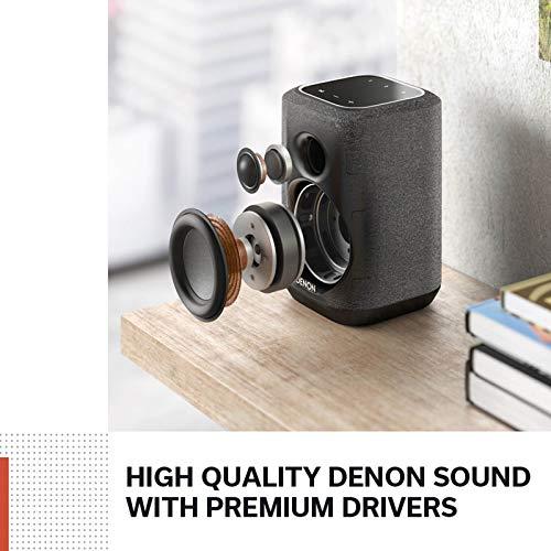DENON Home 150 - Altavoz multiroom con Sistema HEOS Integrado y Control por Voz (Amazon Alexa, Google Assistant, Apple Siri)