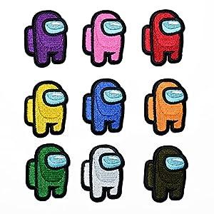 CYWQ Parches de hierro en parches de dibujos animados Among Us Parches bordados Kit de coser en parches para ropa, chaquetas, mochilas zapatos, gorras para niños y adultos