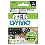 Dymo D1 Etichette Autoadesive per Stampanti LabelManager, Rotolo da 6 mm x 7 m, Stampa Ner...