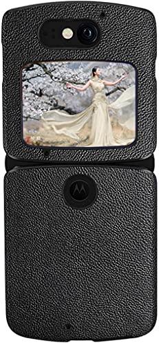 Mking Tech Geeignet für Motorola razr 5G Handyhülle mit Klappbildschirm. Einteilige Ledertasche im Buchstil für 4G- & 5G-Handys